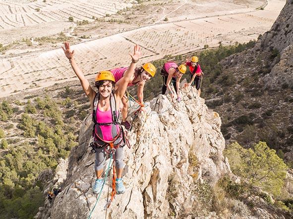 VÍA FERRATA k3/k4+ TIROLINA + RAPEL @ El Ciervo, Sierra Espuña (Murcia) | Casas Nuevas | Región de Murcia | España