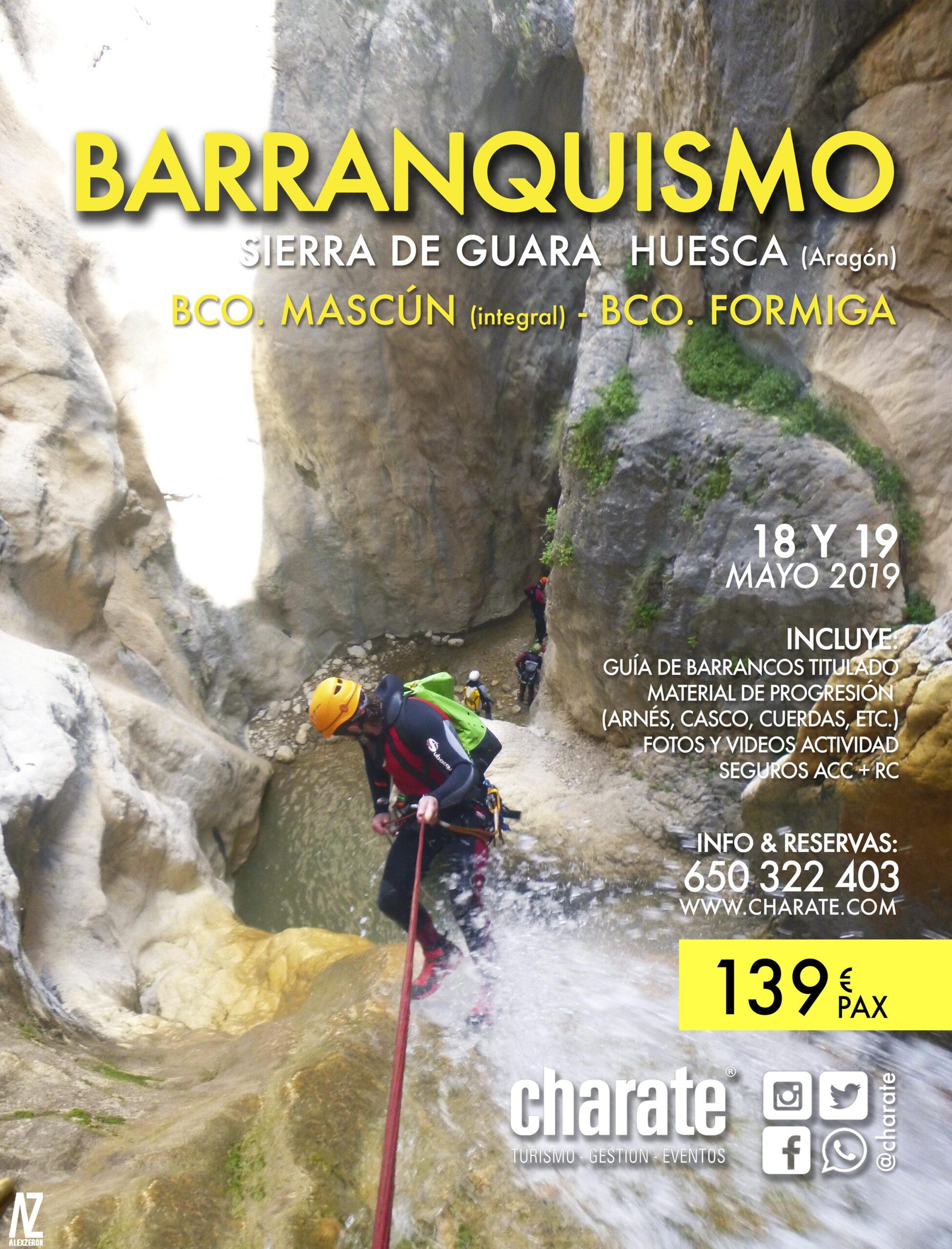 BARRANQUISMO MASCÚN Y FORMIGA @ Sierra de Guara